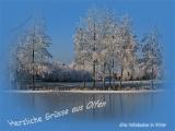 Winterdepressionen Altes Hafenbecken Olfen